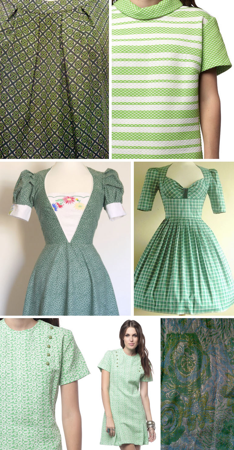 vintage green street patterns