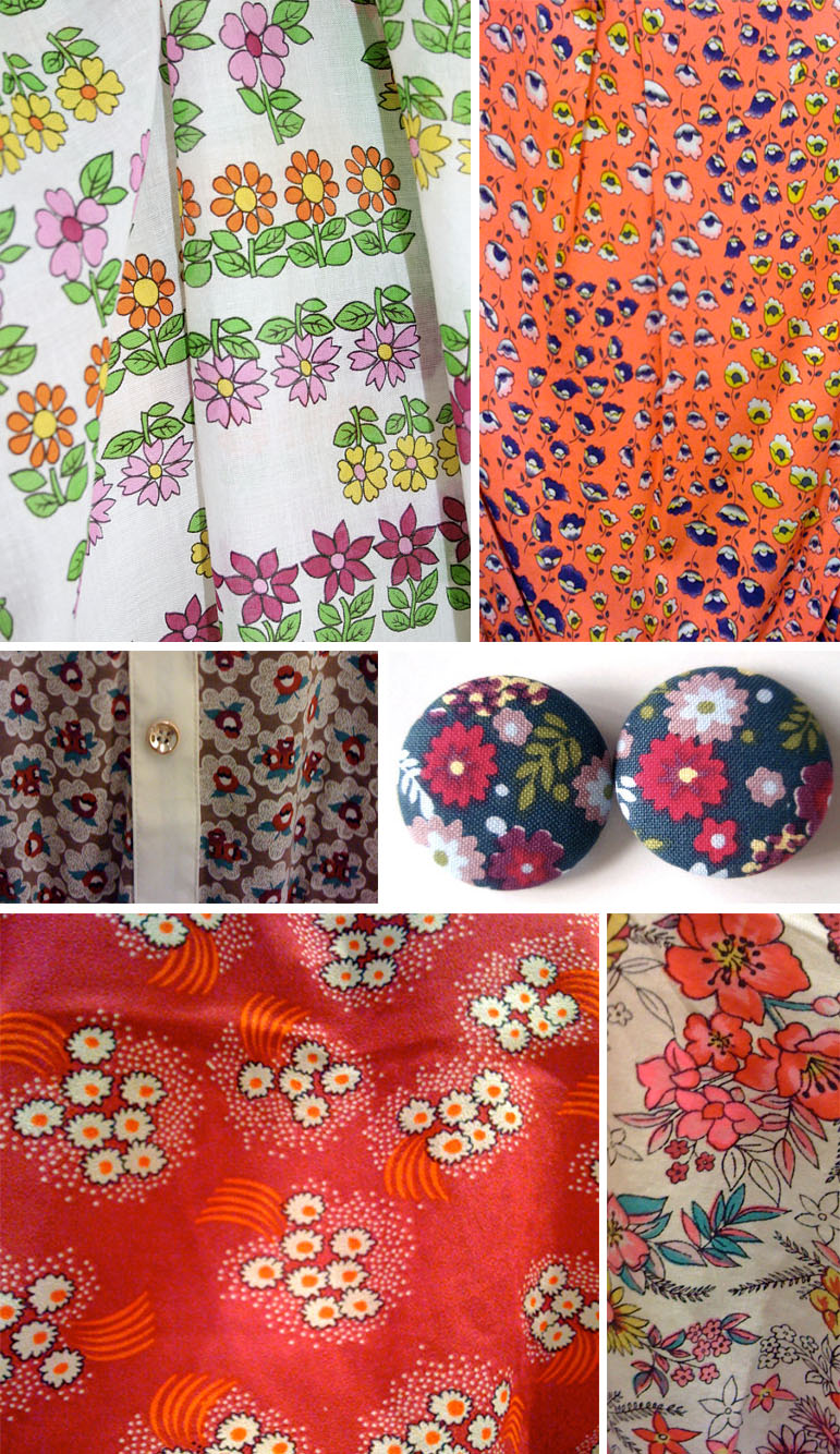 Naive florals street patterns
