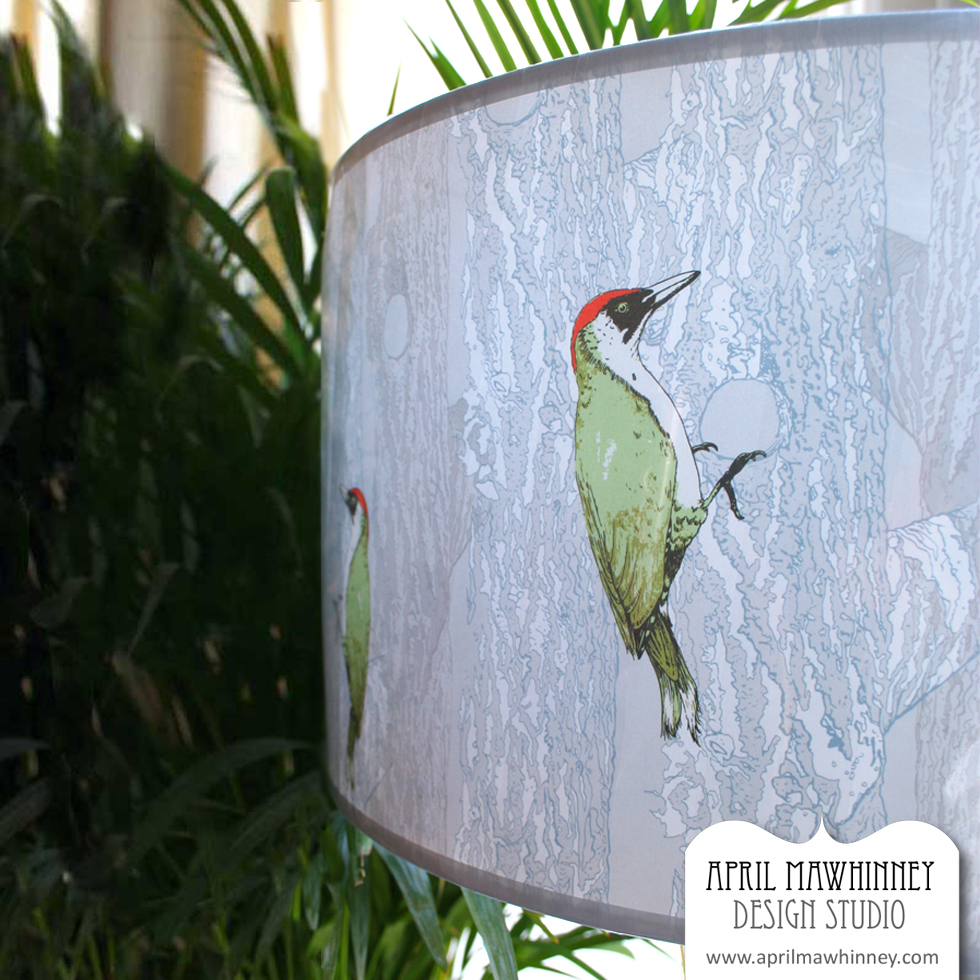 Woodpecker-Lampshade-April-Mawhinney