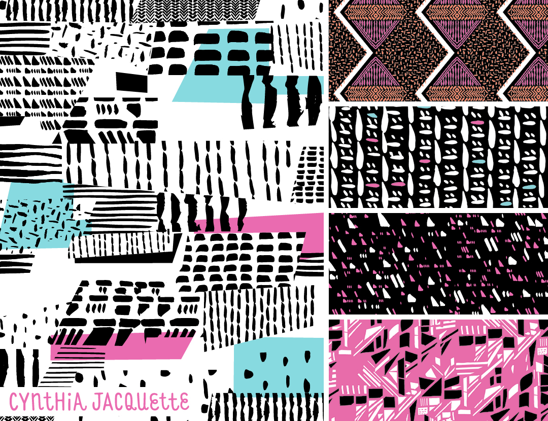 Cynthia Jacquette featured on Pattern Observer http://patternobserver.com/2016/07/15/from-the-textile-design-lab-chelseas-challenge-graphic-statements/